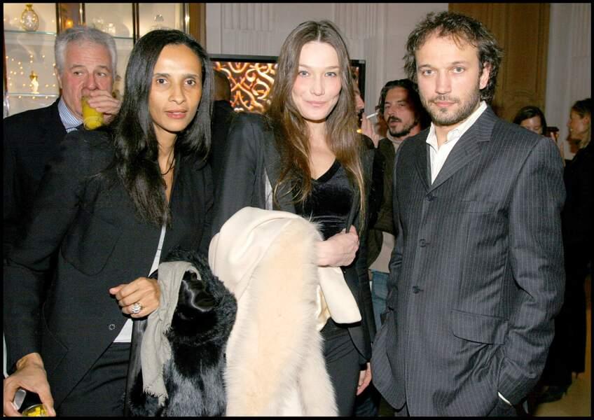 Carla Bruni et Vincent Perez toujours très amis