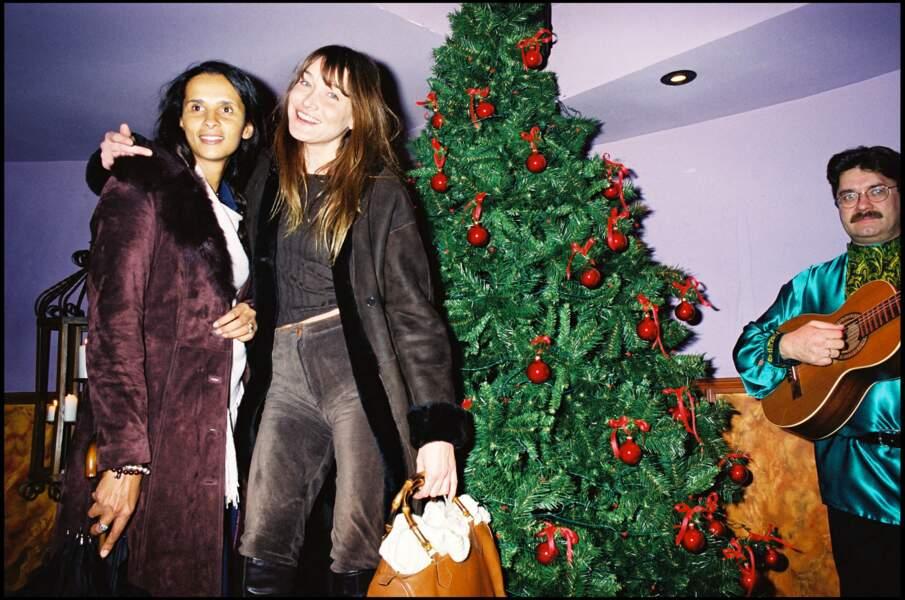 Carla Bruni et Karine Silla, l'épouse de Vincent Perez