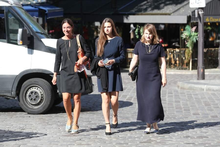 Béatrice de Clermont-Tonnerre et sa fille Elvire aux obsèques de Hermine de Clermont-Tonnerre à Paris le 9 juillet 2020.