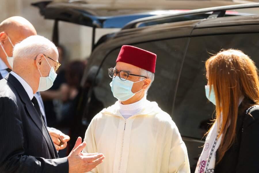L'ambassadeur du Maroc en France Chakib Benmoussa aux obsèques de Hermine de Clermont-Tonnerre