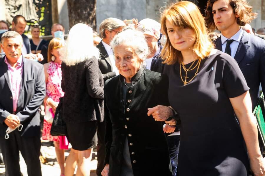 Béatrice de Clermont-Tonnerre et Anne Moranvillé, la mère de Hermine de Clermont-Tonnerre en l'église Saint-Pierre de Montmartre