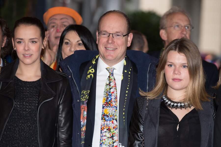 Pauline Ducruet, SAS le Prince Albert II de Monaco, Camille Gottlieb,  le 19 Janvier 2014.