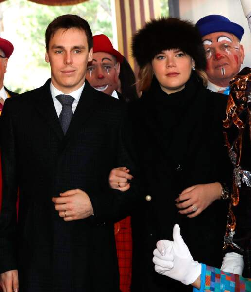 Camille Gottlieb avec son frère, Louis Ducruet, le 19 janvier 2020.