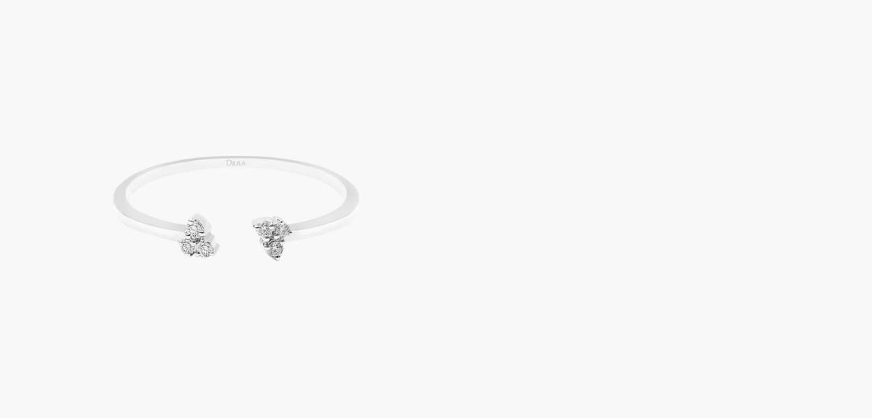 Bague en or blanc et diamants, 450€, Djula
