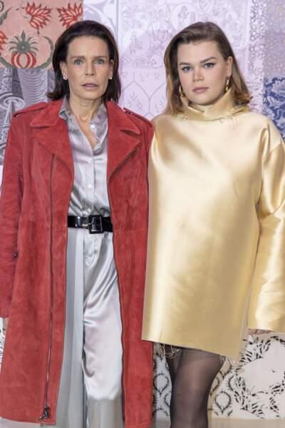 Camille Gottlieb très stylée habillée par Alter, la marque de sa sœur Pauline Ducruet, le 25 février 2020.