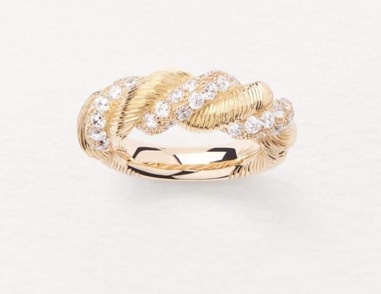 Bague en or jaune et diamants, 7500€, Poiray