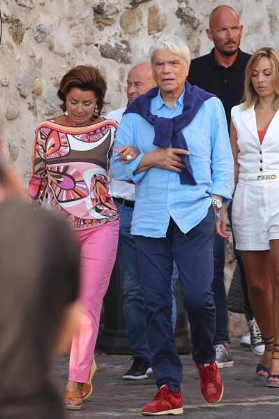 Bernard Tapie et sa femme Dominique, à Saint-Tropez, ce 15 juillet 2020.