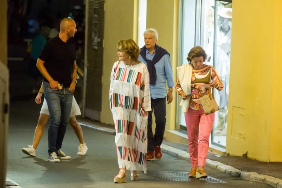 Bernard Tapie et son épouse Dominique sont allés dîner à Saint-Tropez, ce 15 juillet 2020.