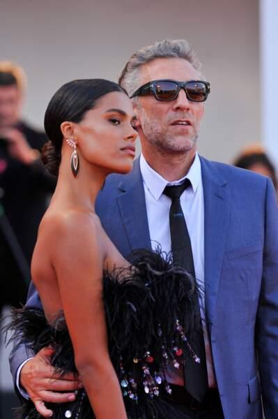 Vincent Cassel et Tina Kunakey à Venise en Italie le 30 Août 2019