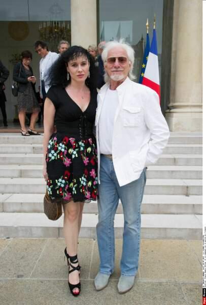 En 2013, Hugues Aufray s'est même affiché au bras de Muriel à l'Élysée