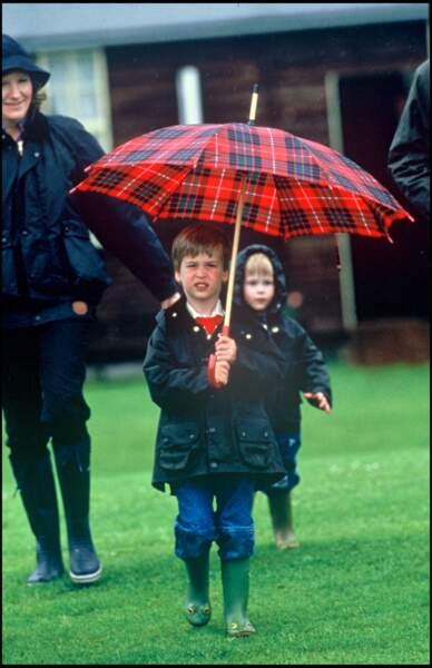 Le prince William en 1987.