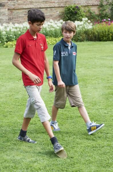 Les prince Nikolai et Felix de Danemark le 26 juillet 2013