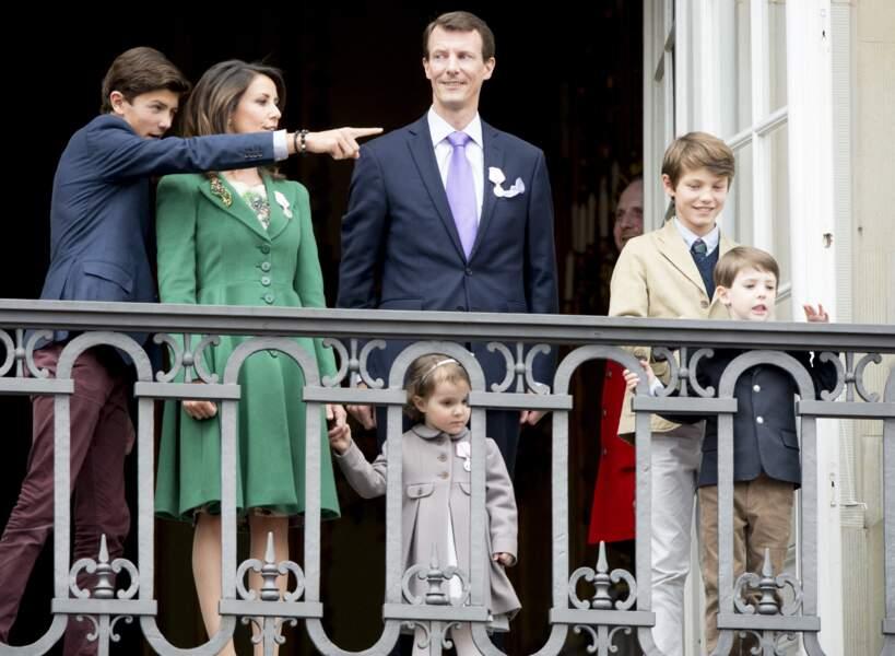 Le prince Felix et sa famille le 16 avril 2015