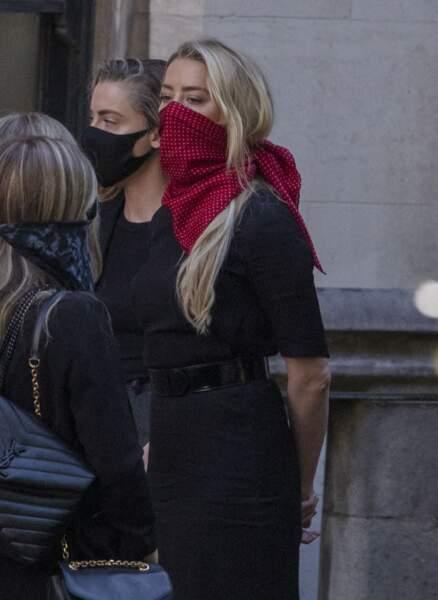 Amber Heard, à son arrivée à la cour royale de justice à Londres, le 7 juillet 2020.