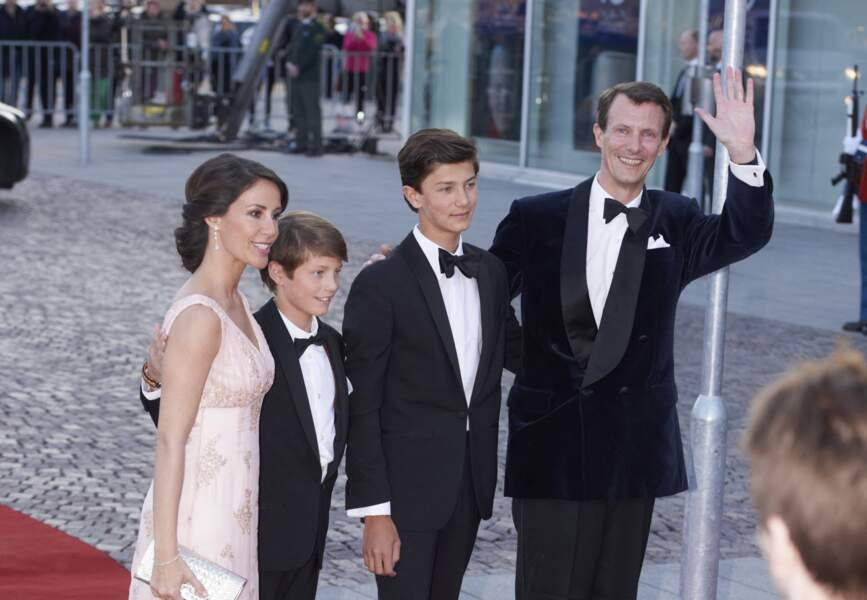 La princesse Marie, le prince Felix le prince Nicolai et le prince Joachim le 8 avril 2015