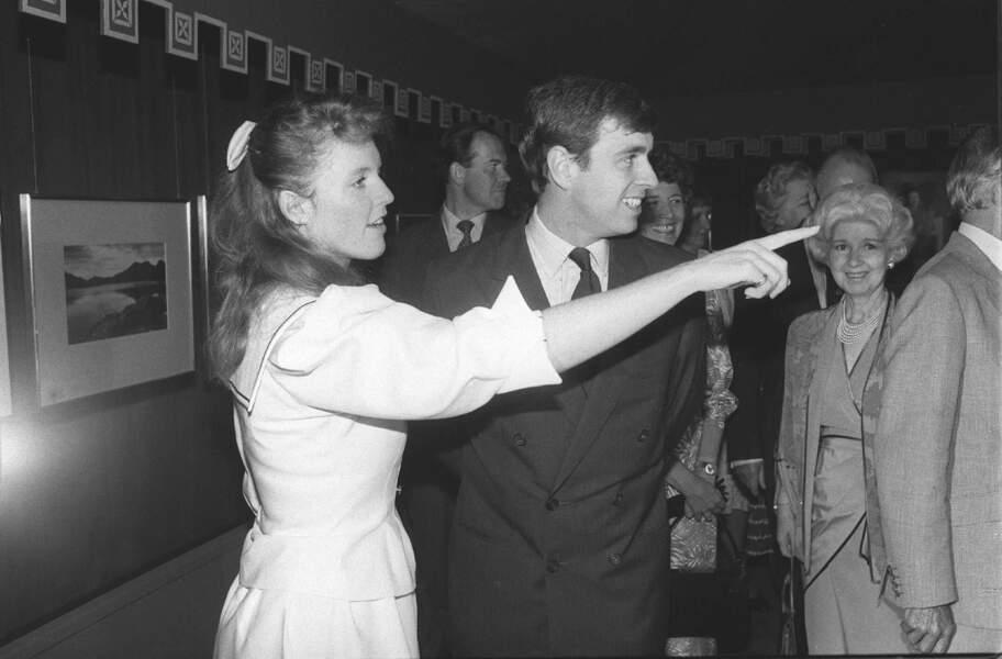 Sarah Ferguson et Andrew, en juillet 1986.