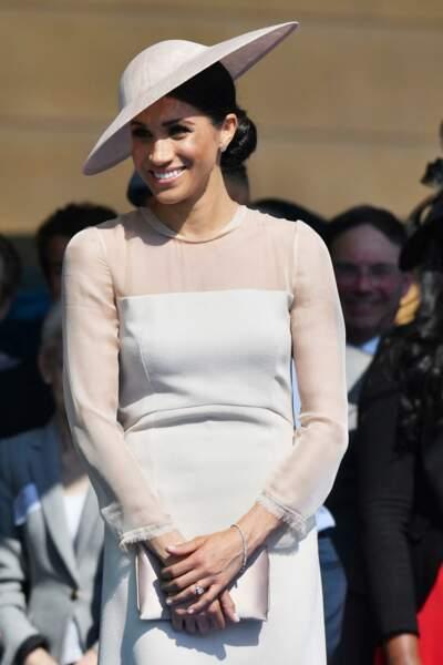 Meghan Markle très classe dans sa robe Goat.