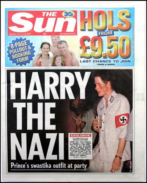 L'uniforme nazi du prince Harry