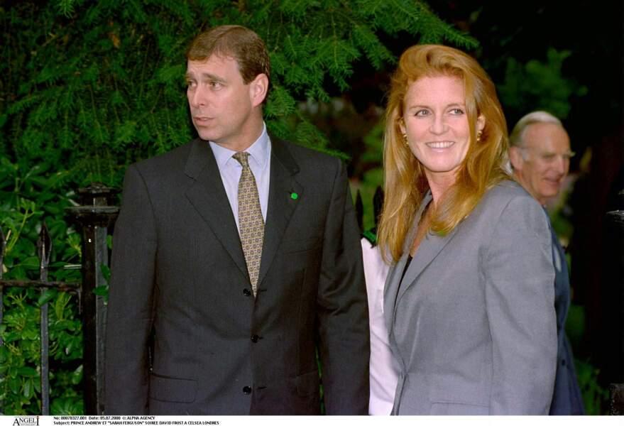 Le prince Andrew et Sarah Ferguson, à la soirée David Frost, à Londres, en juillet 2000.