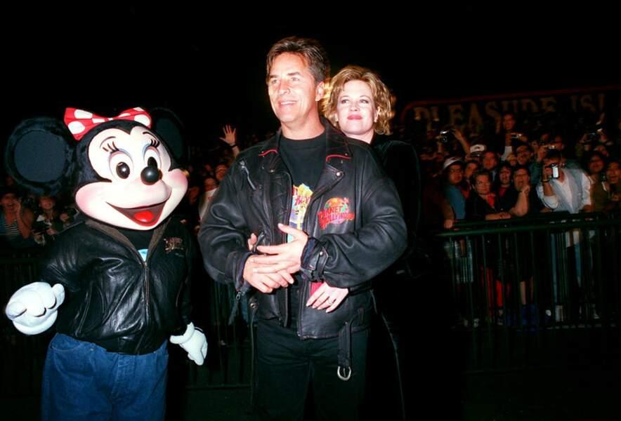 Don Johnson et Melanie Griffith lors de l'inauguration d'un restaurant à Orlando en 1994.