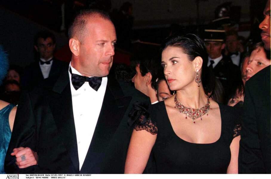 Demi Moore et Bruce Willis lors du festival de Cannes en 1997
