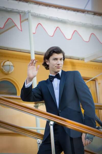 Le prince Nikolai de Danemark, lors de son 18e anniversaire, le 28 août 2017.