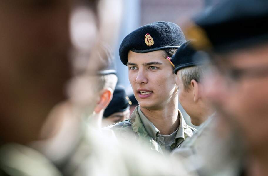 Le prince Nikolai de Danemark défile lors d'une cérémonie en hommage aux soldats danois à Varde, le 5 septembre 2018.