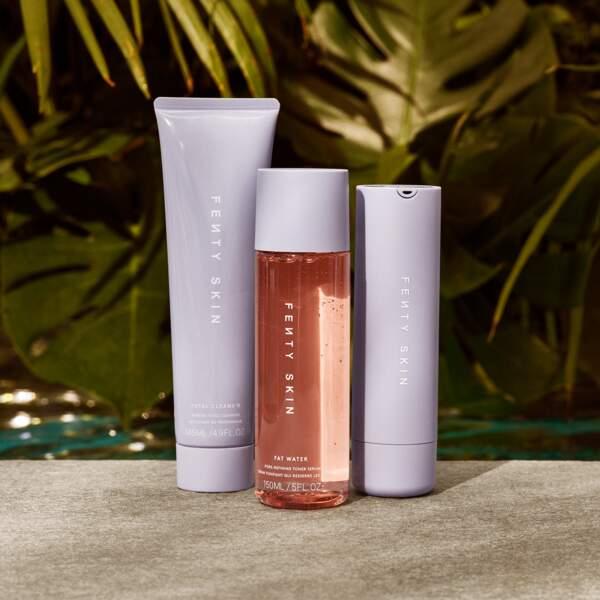 FentySkin de Rihanna : 3 produits double-action pour le visage et adressé à tous les types de peau, en vente en ligne le 31 juillet 2020.