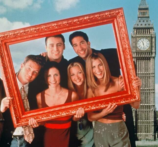 Le cast de Friends à l'époque