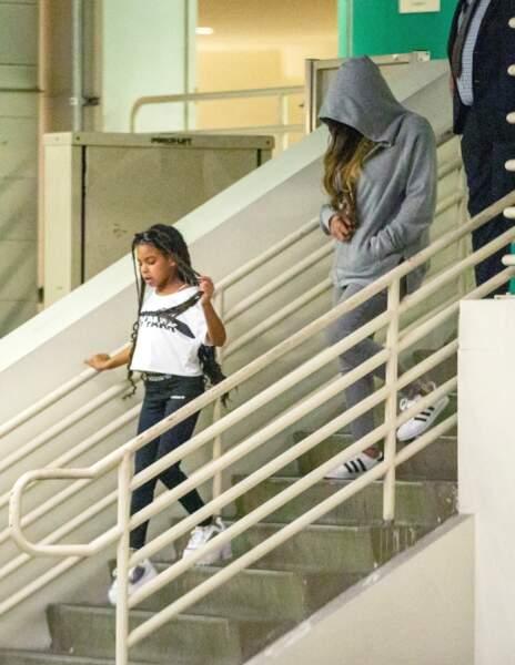 Beyoncé photographiée lors d'une séance de shopping avec sa fille Blue Ivy, à Beverly Hills, en octobre 2019