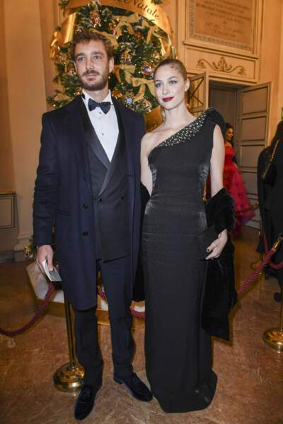Pierre Casiraghi, Beatrice Borromeo lors de la première de Attila, de Giuseppe Verdi à La Scala à Milan le 7 décembre 2018.