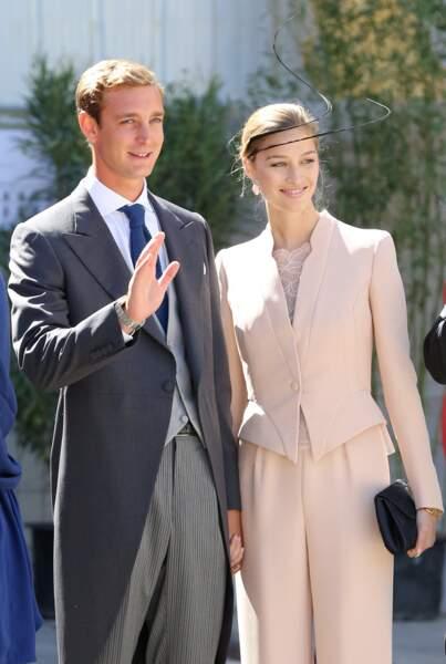 Pierre Casiraghi et Beatrice Borromeo, un couple d'une élégance folle, le 21 septembre 2013.