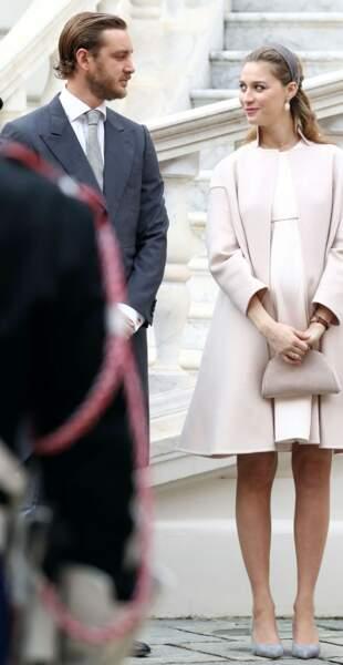 Pierre Casiraghi et sa femme Beatrice Borromeo enceinte de leur premier enfant, ici à Monaco le 19 novembre 2016.