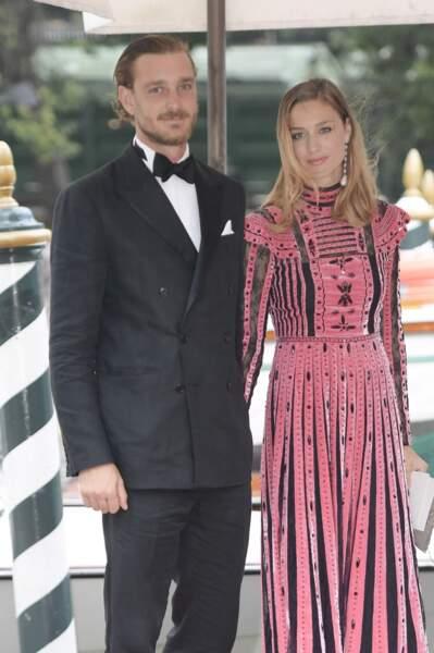 Beatrice Borromeo et Pierre Casiraghi, un couple de star invité à la Mostra de Venise en septembre 2017.