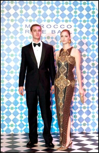 Pierre Casiraghi et Beatrice Borromeo au Bal de la rose à Monaco en 2010, cinq ans avant leur mariage.