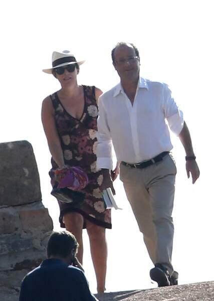 En 2012, François Hollande s'est rendu au Fort de Brégançon avec Valérie Trierweiler