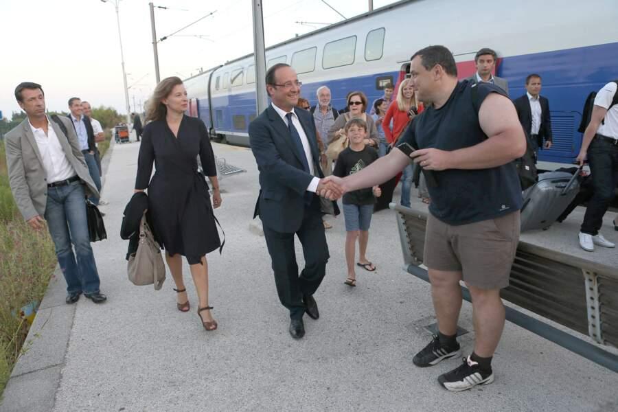 François Hollande arrivait toujours souriant et détendu au Fort de Brégançon