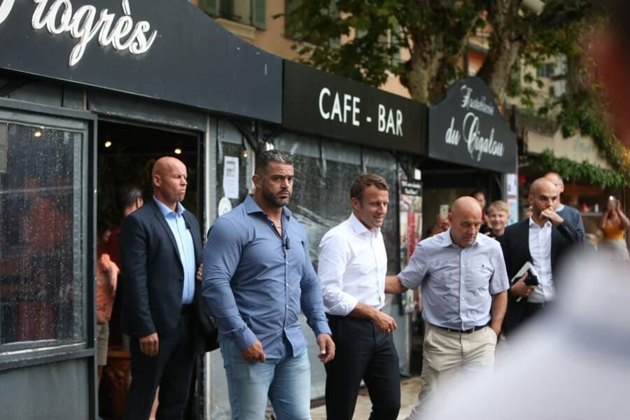 Emmanuel Macron a également été aperçu à Brégançon en juillet 2019, période à laquelle il est une fois encore allé à la rencontre des Français