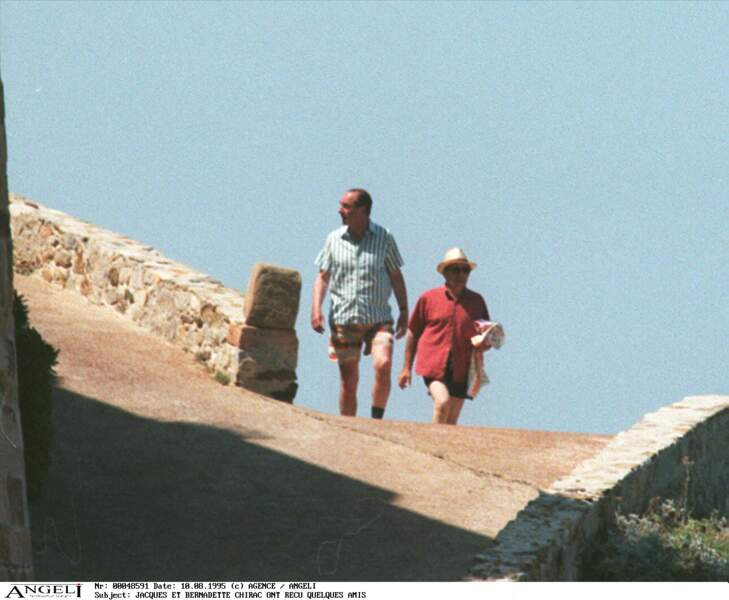 Jacques Chirac appréciait aussi les balades autour du Fort avec son épouse Bernadette