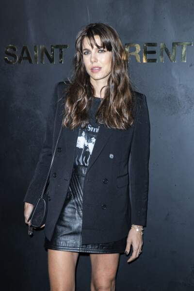 "Charlotte Casiraghi rock'n roll lors du défilé Saint Laurent"" à Paris. Le 24 septembre 2019"