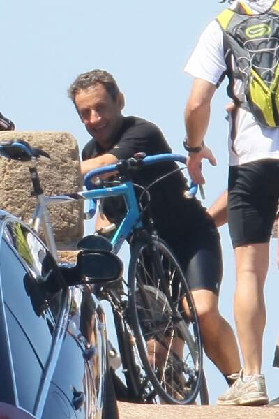 A Brégançon, Nicolas Sarkozy était détendu et souriant !