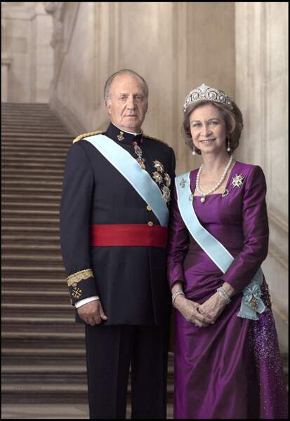 Le roi Juan Carlos Ier et sa femme, la reine Sofia.