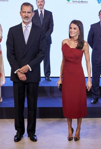 Le roi Felipe VI d'Espagne et sa femme Letizia, toujours très en beauté.