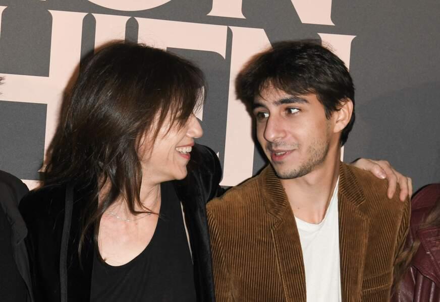 Ben Attal et sa mère, Charlotte Gainsbourg