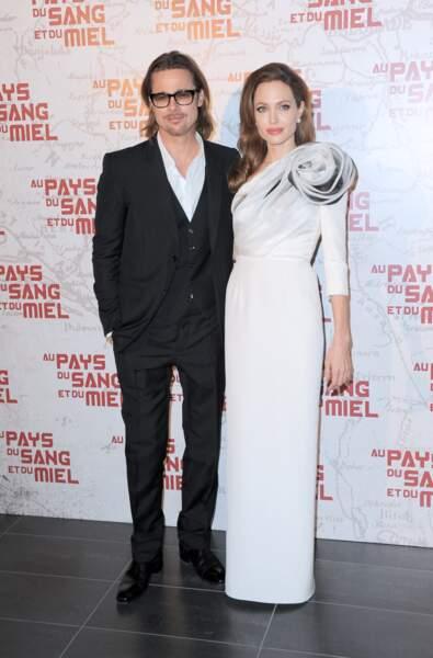 Brad Pitt et Angelina Jolie se sont unis en France en 2014. Leur séparation fera la une des médias deux ans plus tard.