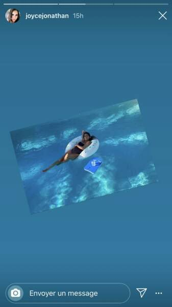 Joyce Jonathan profite de sa grossesse dans la piscine