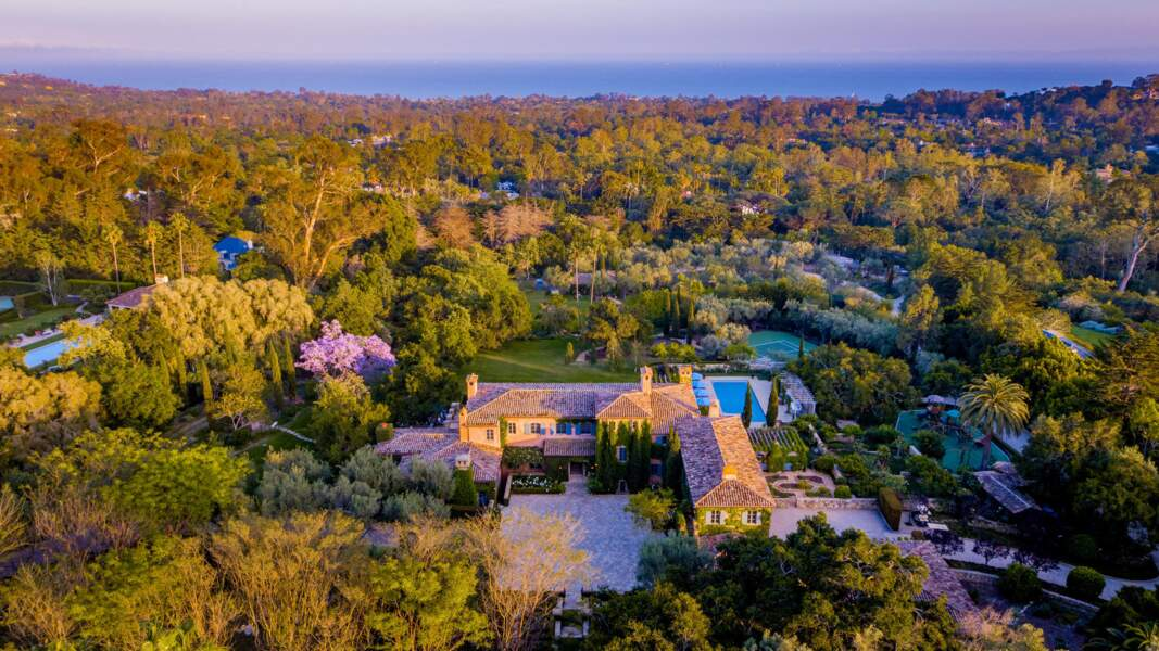 Nouvelle propriété de Meghan Markle et du prince Harry dans le quartier de Montecito à Santa Barbara.