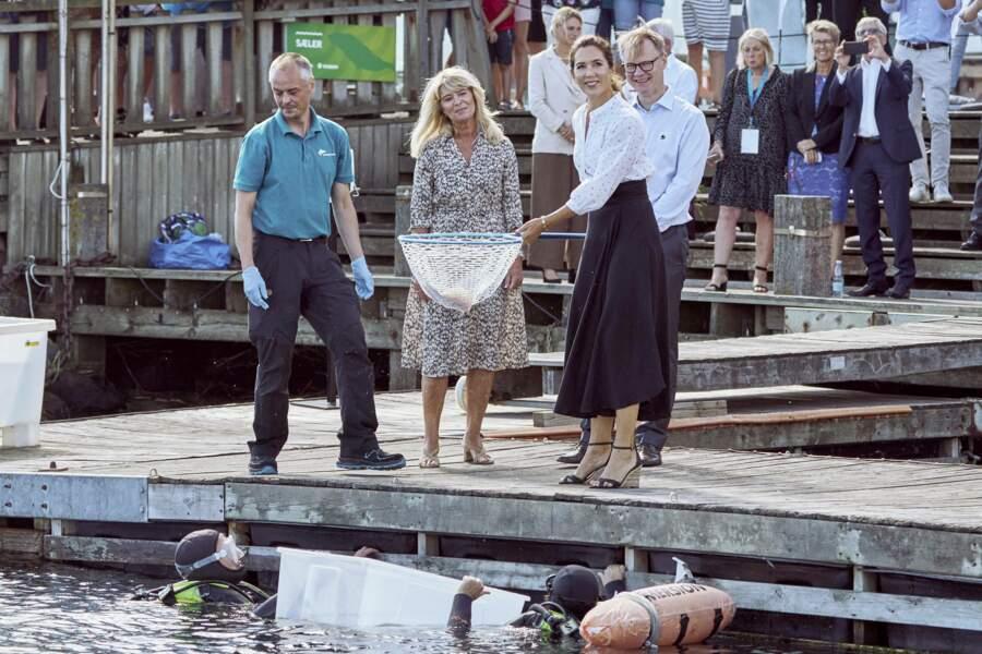 Ce mercredi 19 août, la princesse Mary de Danemark a affectué sa première apparition officielle depuis les vacances