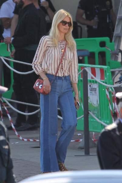 Claudia Schiffer en 2019, stylée et toujours cette même blondeur juvénile.