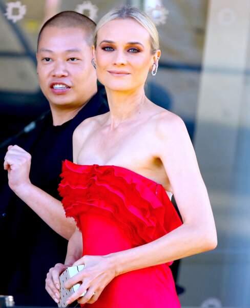 Diane Kruger à la soirée CFDA Fashion Awards, à New York.